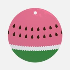 Abstract Watermelon Ornament (Round)