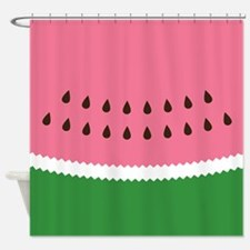 Abstract Watermelon Shower Curtain