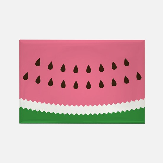 Abstract Watermelon Rectangle Magnet