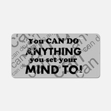 CAN DO Inspirational Saying Aluminum License Plate