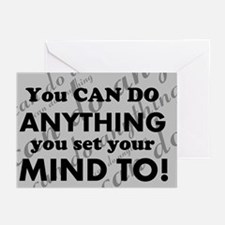 CAN DO Inspirational Saying Greeting Cards
