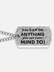 CAN DO Inspirational Saying Dog Tags