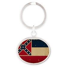 Mississippi State Flag VINTATE Keychains
