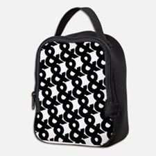 Ampersand Pattern Black and Whi Neoprene Lunch Bag