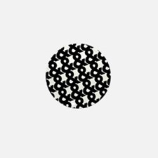 Ampersand Pattern Black and White Mini Button