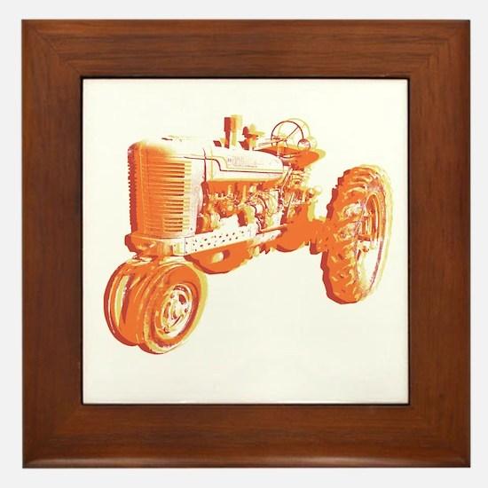 Serigraph Tractor Hot Framed Tile