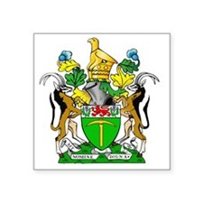 "RHODESIA  Square Sticker 3"" x 3"""