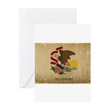 Illinois State Flag VINTAGE Greeting Cards