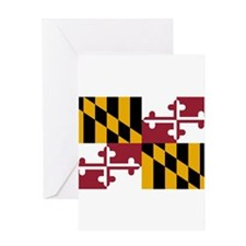 Maryland State Flag Greeting Cards