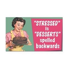 Desserts Rectangle Car Magnet