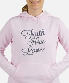 Faith Hope Love Women's Hooded Sweatshirt