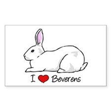 I Heart Beveren Rabbits Decal