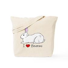 I Heart Beveren Rabbits Tote Bag
