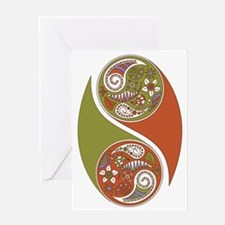 Eastern Swirls Greeting Card
