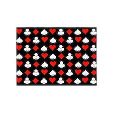 Poker Symbols 5'x7'Area Rug