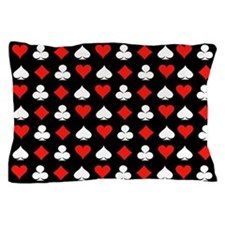 Poker Symbols Pillow Case
