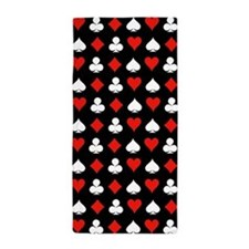 Poker Symbols Beach Towel