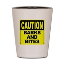 Barks and Bites Shot Glass
