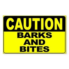 Barks and Bites Wide Decal