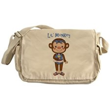 Lil Monkey Girl w Ice Cream Cone Messenger Bag