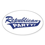 Republican Party! Oval Sticker