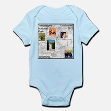 Yellowstone NP Illustrated Ma Infant Bodysuit