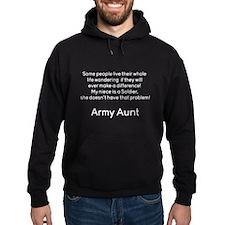 Army Aunt No Problem Niece Hoodie