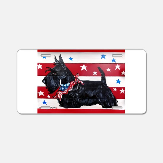 American Scottie Aluminum License Plate