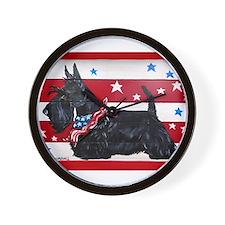 American Scottie Wall Clock
