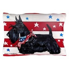 American Scottie Pillow Case