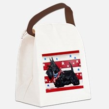 American Scottie Canvas Lunch Bag
