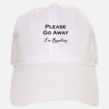 Please Go Away Im Reading Baseball Baseball Baseball Cap