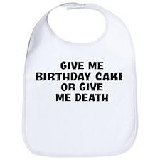 Give me Birthday Cake Bib