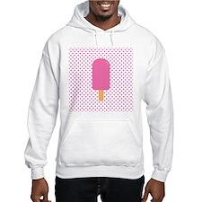 Pink Popsicle on Polka Dots Hoodie