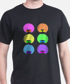 Cool Neon Retro Afro Sunglasses T-Shirt