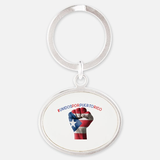 Cool Puerto rico Oval Keychain