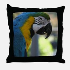Cute Blue and gold Throw Pillow