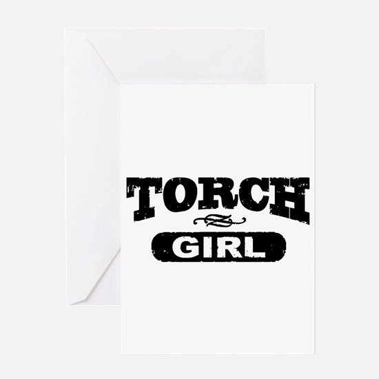 Torch Girl Greeting Cards