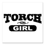 Torch Girl Square Car Magnet 3