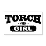 Torch Girl Rectangle Car Magnet