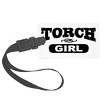 Torch Girl Luggage Tag