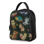 Chalk Toys on Blackboard Neoprene Lunch Bag