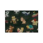 Chalk Toys on Blackboa Rectangle Magnet (100 pack)