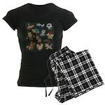 Chalk Toys on Blackboard Women's Dark Pajamas