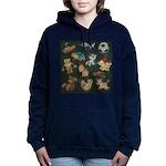 Chalk Toys on Blackboard Women's Hooded Sweatshirt