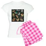 Chalk Toys on Blackboard Women's Light Pajamas