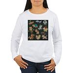 Chalk Toys on Blackboa Women's Long Sleeve T-Shirt