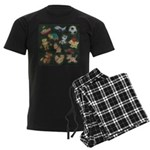 Chalk Toys on Blackboard Men's Dark Pajamas
