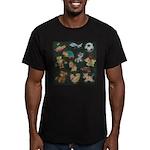 Chalk Toys on Blackboa Men's Fitted T-Shirt (dark)