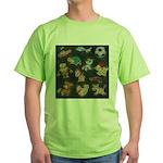 Chalk Toys on Blackboard Green T-Shirt